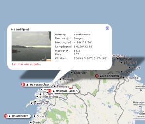 Hvor er MS Trollfjord nå?
