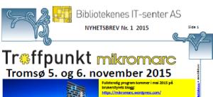 Nyhetsbrev nr. 1/2015 i PDF-format